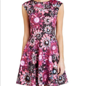 TED BAKER LONDON floral print fit & flare dress